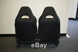 03-08 JDM Subaru Forester STI SG9 OEM Black Front LH RH Seats GD Impreza Spec C
