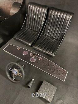 1/4 Scale Cobra Metal Interior Cabin, Seats, Dash, Steering Wheel & Gear Knob