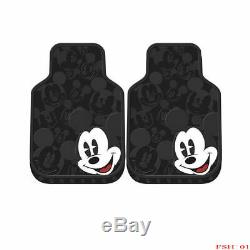 11PC Disney Mickey Mouse Car Truck Floor Mats Seat Covers & Steering Wheel Cover
