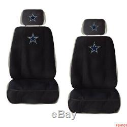 11PC NFL Dallas Cowboys Car Truck Seat Covers Floor Mats Steering Wheel Cover