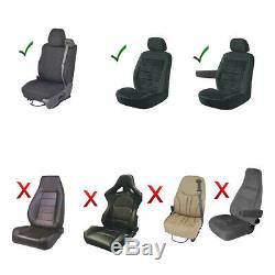 11PC NFL Oakland Raiders Car Truck Seat Covers Floor Mats Steering Wheel Cover