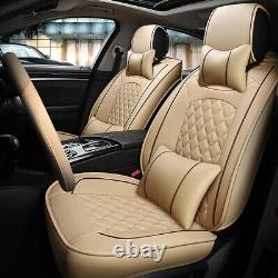 12pieces Car Seat Cushion with Car Steering wheel Cover Seat Universal 5-Sit Car