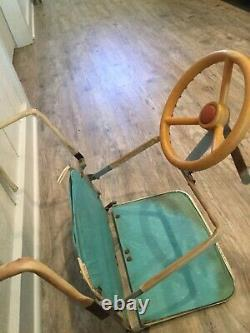1950s Childs Folding Car Seat with Steering Wheel Jessar Junior