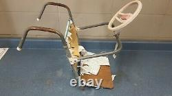 1950s dennis mitchell foldable hanging child car seat with steering wheel
