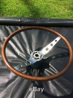 1964-1966 Chevrolet, GM, Chevelle 2 Spoke Walnut Wood Steering Wheel