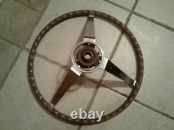 1964 65 66 67 Mopar Woodgrain Sport Steering Wheel Charger Satellite Dart Cuda
