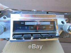 1966-1967 Chevelle Factory AM FM Radio Delco 986529 Clean Working OEM El Camino