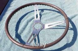 1969 Chevy Walnut Steering Wheel GM 3 Spoke Camaro Chevelle Nova Impala REAL WOW