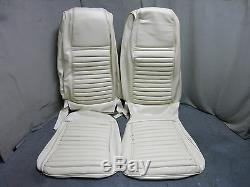 1970 Mustang Mach 1 Front Bucket Seat Upholstery Reproduction White Stripe