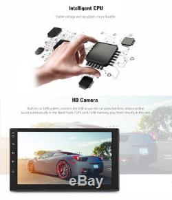 2 Din WiFi Car MP5 Radio Player GPS Bluetooth Android 6.0 Steering Wheel Control