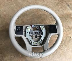 2007-2014 Ford Expedition Steering Wheel Ivory Leather OEM