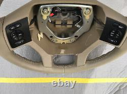 2007-2014 Ford Expedition Steering Wheel Tan Leather OEM