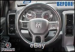 2009 2010 2011 2012 Dodge Ram Laramie Limited-Leather Steering Wheel Cover Black