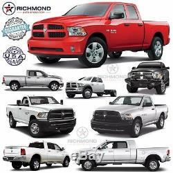 2013 2014 2015 2016 Dodge Ram Long Horn -Leather Wrap Steering Wheel Cover Black