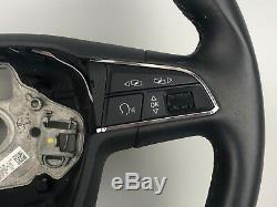 2015 Seat Leon 5f Multifunction Steering Wheel LEATHER BLACK 5F0419091L
