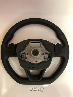 2015 Seat Leon Fr Flat Bottom Steering Wheel Leather Paddles 5f0419091s