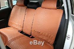 2016 Orange Brown Seat Belt Steering Wheel Shift Knob Front &Back Car Seat Cover