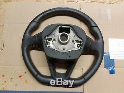 2016 Seat Leon Fr Leather Multifunction Flat Bottom Steering Wheel 5f0419091r