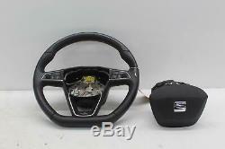 2017 SEAT LEON FR Multifunctional Black Leather Steering Wheel