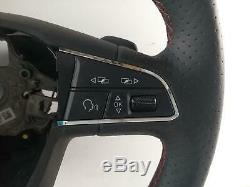 2017 SEAT LEON Mk3 3 Spoke Leather Multifuction Paddle Steering Wheel 957