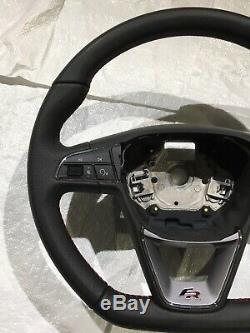 2017+ Seat 6f Leon Ibiza Arona Flat Bottem Steering Wheel Fr Red Stitching Mint