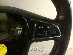 2018 SEAT LEON FR 3 Spoke Multifunction Flat Bottom Steering Wheel 401