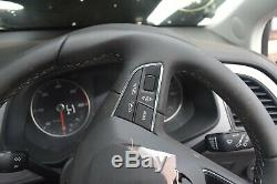 2019 Seat Leon Black Leather Multifunction Steering Wheel With Controls