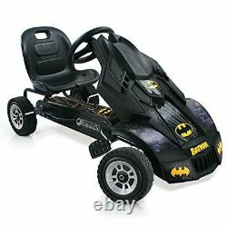 3 Point Steering Batmobile Pedal Go Kart with Adjustable Safe Seat & Rubber Wheels