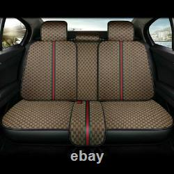 5-Seats Car SUV Seat Cover Set Luxury Protector Front Rear Universal Accessories