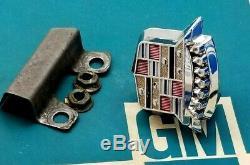 64 65 66 67 68 Cadillac Trunk Lock Cover Emblem Flip LID Crest Deck Gm Trim