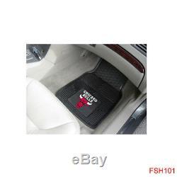 7pc Set NBA Chicago Bulls Car Truck Seat Covers Floor Mats Steering Wheel Cover