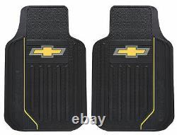 7pcs Chevy Elite Logo Car Truck Seat Covers Floor Mats Steering Wheel Cover Set