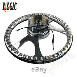 9-Bolt 14 Chrome Billet Steering Wheel WithHorn Button & Adapter For GM Chevy