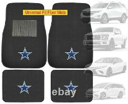9PC NFL Dallas Cowboys Car Truck Seat Covers Steering Wheel Cover Floor Mats Set