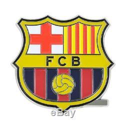9pc FC Barcelona Car Truck Floor Mats Seat Covers Steering Wheel Cover Emblem