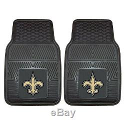 9pc NFL New Orleans Saints Car Seat Covers Floor Mats Steering Wheel Cover