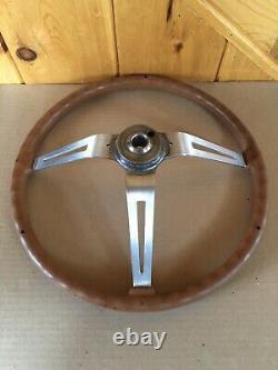 AMC Jeep CJ5 CJ7 CJ8 FSJ Factory Nutmeg 3 Spoke Steering Wheel Original Oem Rare