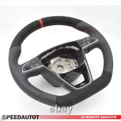 Alcantara Leather Steering Wheel Multifunction Seat Leon 5F Ibiza 6P Toledo Aj