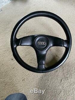 Audi 80 90 B3 Coupe S2 Nardi Black Leather Sport Steering Wheel With Hub