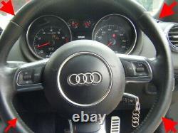Audi Tt S3 A3 R8 S Line Flat Bottom Leather Steering Wheel Airbag