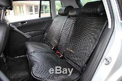 Black Seat Cover Set Shift Knob Belt Steering Wheel PVC Leather Luxury 32001 b