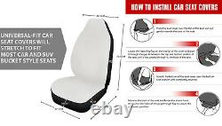 Blue Galaxy Car Seat Covers Full Set with Steering Wheel, Seatbetl, Armrest Covers