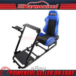 Blue PVC Cockpit Racing Simulator Steering Wheel Stand Fits PS4 Xbox One