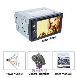 Bluetooth Car Stereo DVD CD Player 6.2 2Din Radio FM AUX Steering Wheel Control