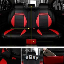 Car SUV Interior Seat Cover Steering Wheel Full Set Soft Cushion 5-Sit Accessory