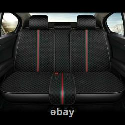 Car Seat Cover Full Set Front Rear withSteering Wheel Universal 5D Breathable Kit