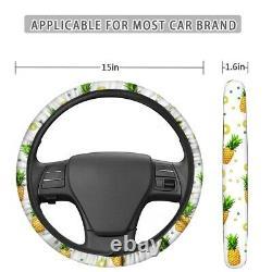 Car Seat Covers Full Set of 10 PCS + Floor Mats+Steering Wheel Cover Interior