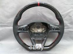 Carbon Fibre Seat Leon Fr Mk3 Flat Bottom Steering Wheel 5f0419091r 2012-2016