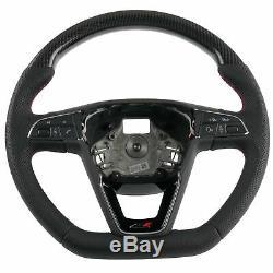 Carbon leather steering wheel fits Seat Leon 5F SC ST Cupra R (12+) DSG