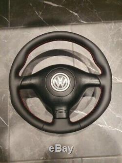 Custom VW golf mk4 gti r32 steering wheel leather gt gtd seat skoda